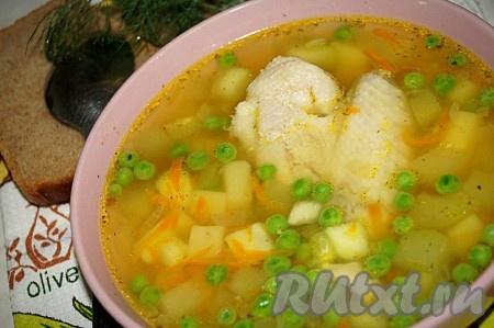 Рецепт куриного супа с кабачками