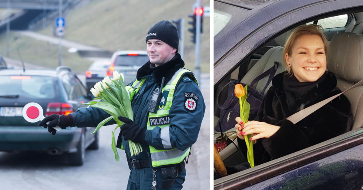 Here's What Lithuanian Police Officers Do On International Women's Day