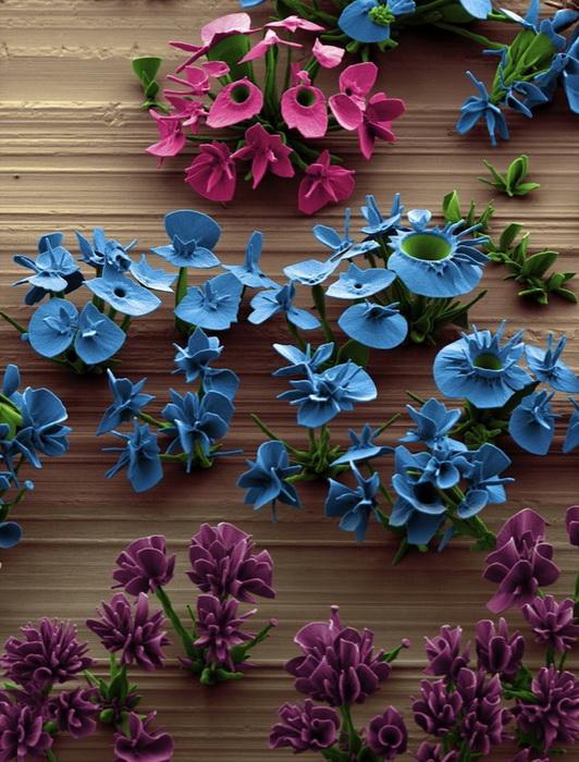 Цветы из кристаллов созданы в лаборатории Гарвардского университета