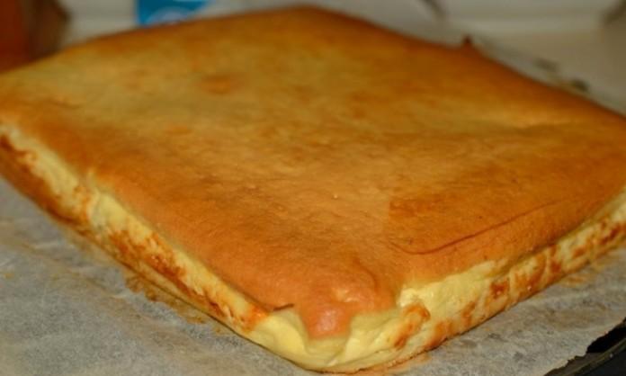 Наливной пирог с творогом. П…