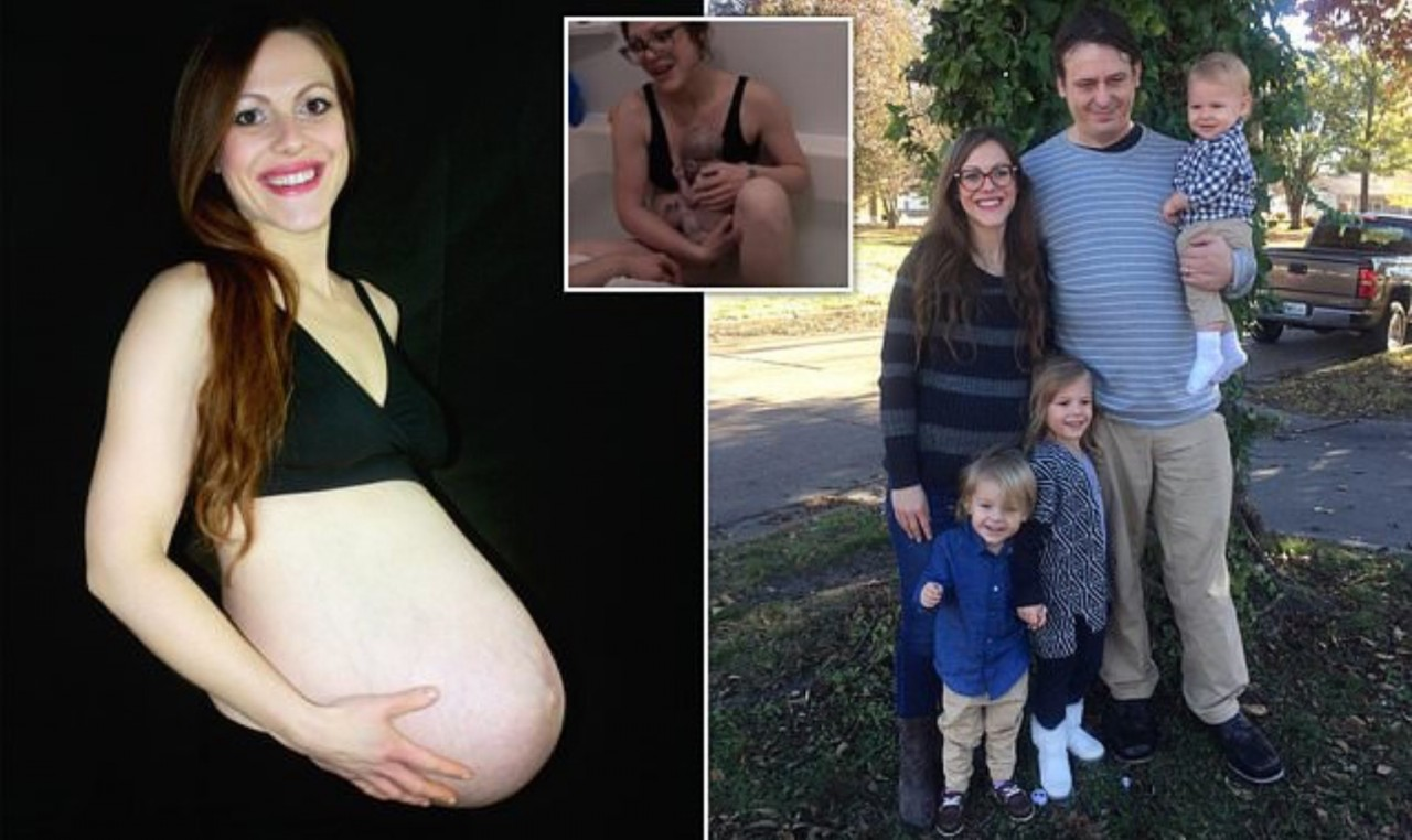 Роды в прямом эфире: американка снимала на видео рождение дочери в домашних условиях