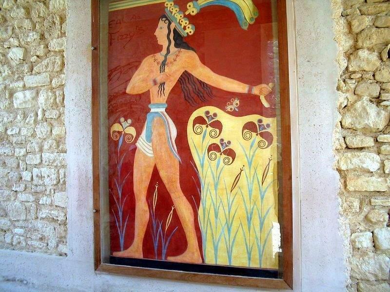 Кносский жрец из коллекции скульптурных репродукций ооо бм хнум (декоративная гипсовая скульптура)