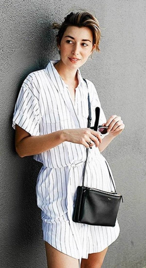 На территории моды: 15 стильных платьев-рубашек и с чем их носить.