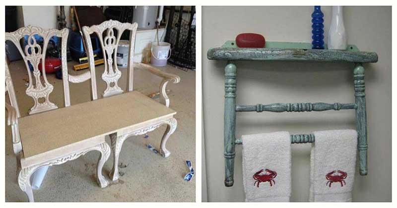 10 блестящих и экономных трансформаций старого стула