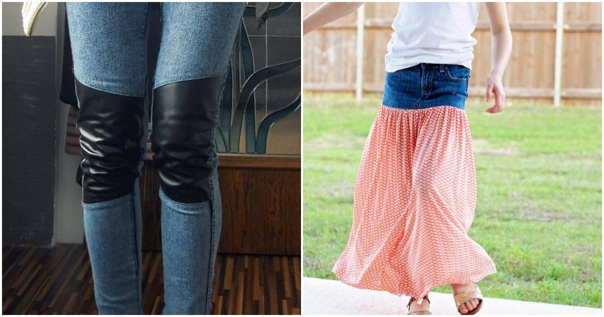 Новые идеи оригинальных переделок и декора старых джинсов