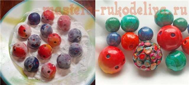 Мастер-класс по лепке из полимерной глины: Полые бусины