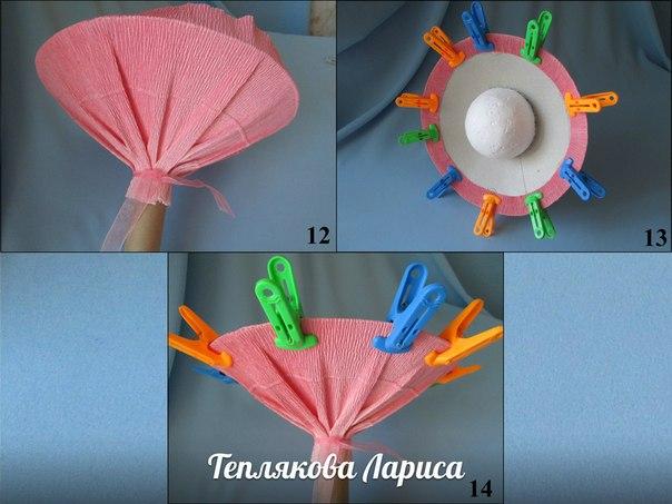Как сделать из бумаги основу для букета из