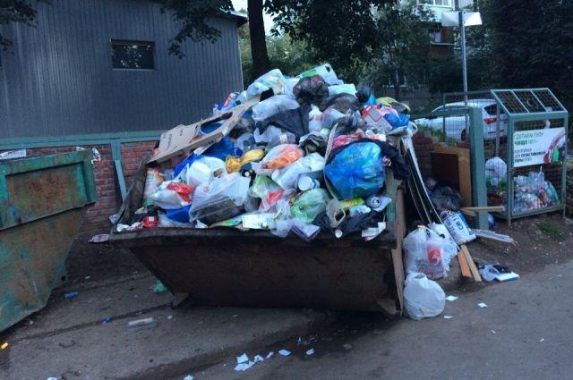 В Челябинск прибудут дополнительные машины для вывоза мусора