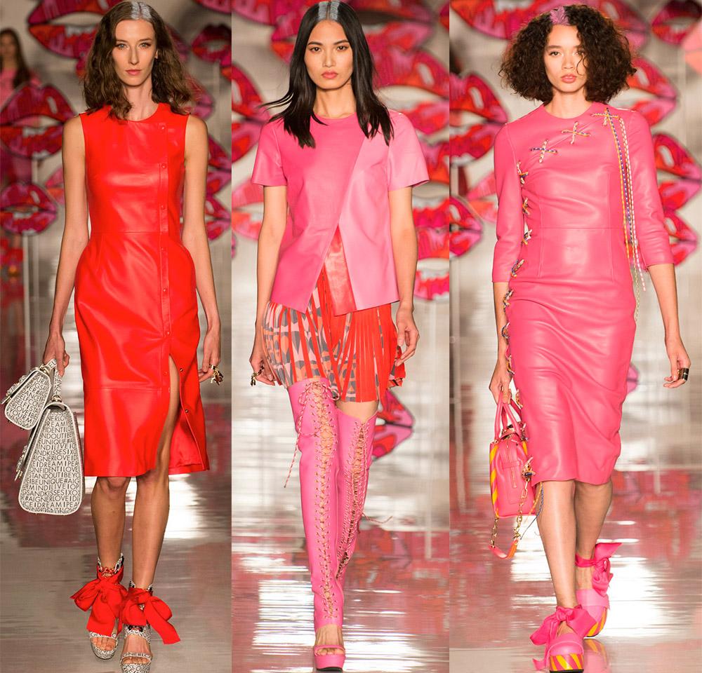 Кожаные платья, юбки и жакеты — новинки из последних коллекций 2018