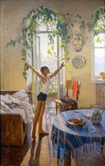 История героини известной советской картины «Утро»