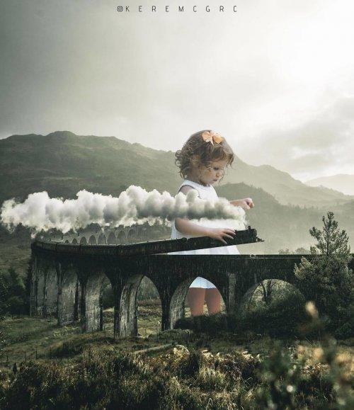 Фотоманипуляции 17-летнего цифрового художника Керема Джигерджи