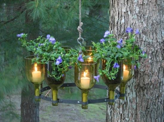 Садовый светильник из пустых