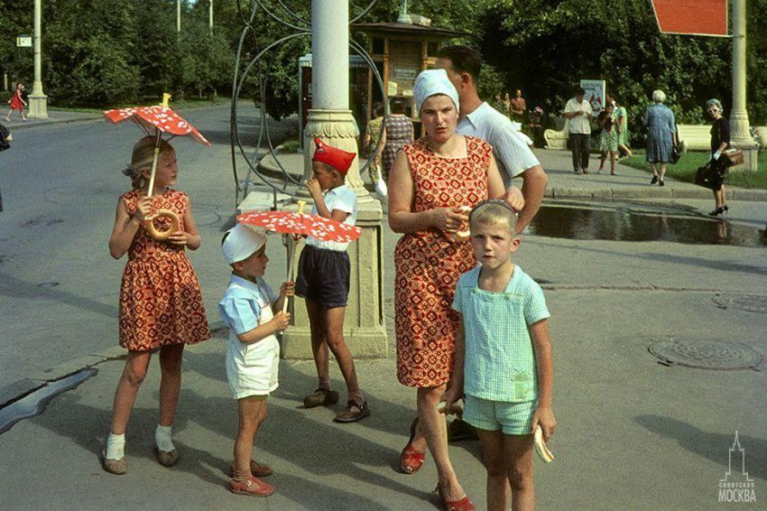 Москва 60-х в цвете москва, фото, ретро, старое фото
