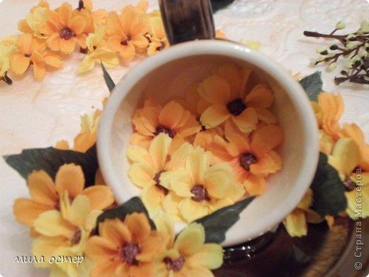 Мастер-класс Поделка изделие Флористика День рождения Цветочная кружечка Клей фото 12