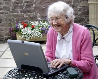 Современная бабушка!