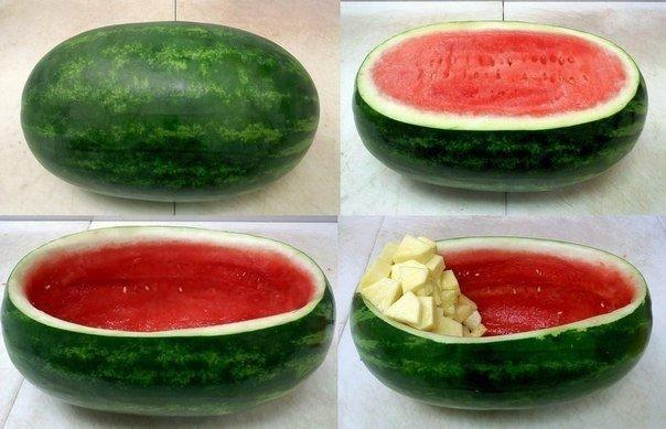 Как красиво подать фрукты