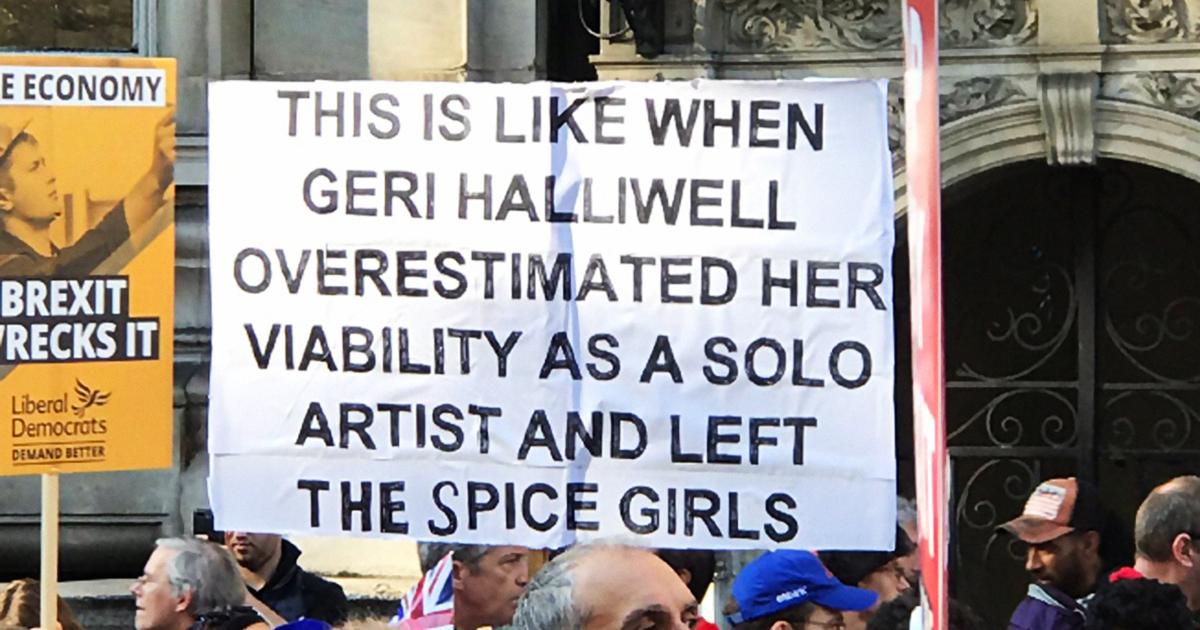 27+ Of The Best Signs From The Anti-Brexit March