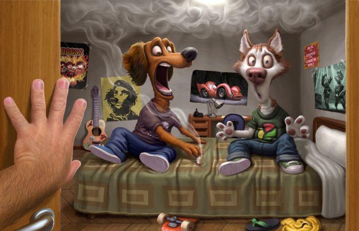 Ирония, сарказм и море позитива: невероятно смешные иллюстрации от бразильского художника