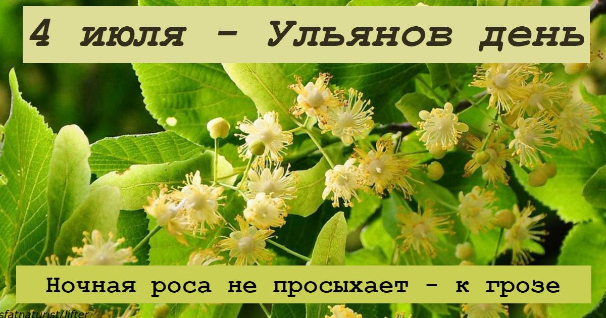 4 июля – Ульянов день. Вот на что надо обратить внимание
