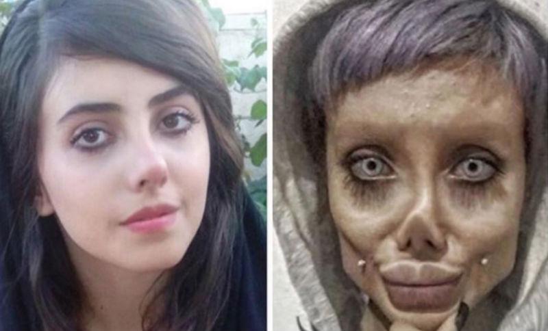 «Иранская Анджелина Джоли» показала свое настоящее лицо, и она совсем не похожа на труп