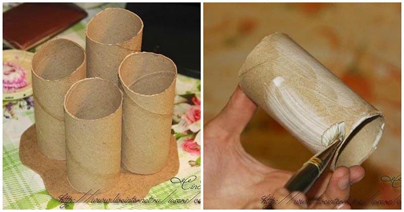 Чудесная поделка из втулки от туалетной бумаги