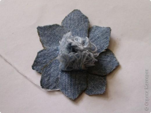 Мастер-класс Вырезание: Цветок из джинса №2+МК Ткань. Фото 13
