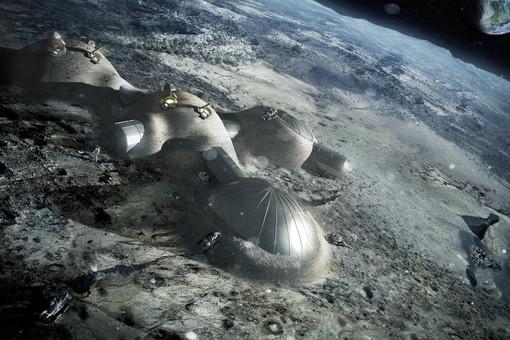 Застройка Луны куполами из принтера