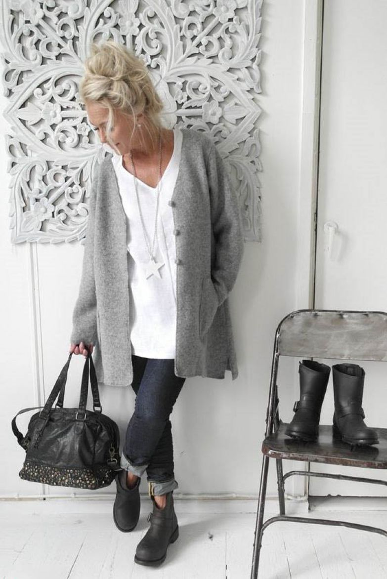 Стильный эффектный casual: 6 очаровательных образов для зрелых дам