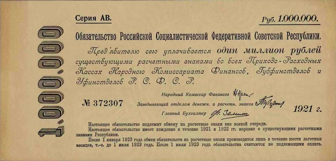 Обязательства РСФСР 1921 года