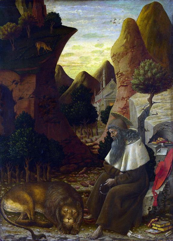 Боно да Феррара - Святой Иероним в пейзаже. Национальная галерея, Часть 1