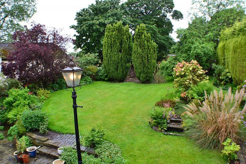Газон на садовом участке. Ландшафтный дизайн