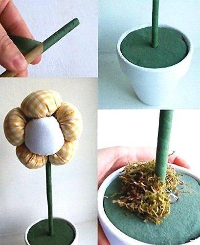 Как сделать искусственные цветы в горшочке