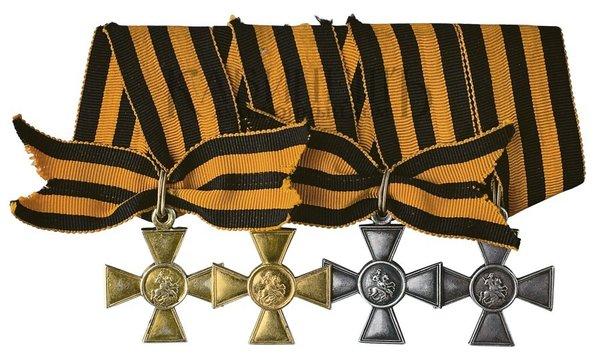 За что советские маршалы получали Георгиевские кресты