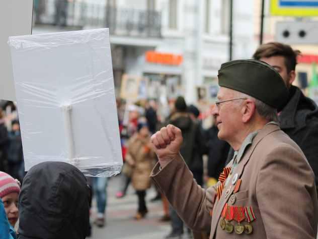В Челябинске установили баннер ко Дню Победы с ошибкой