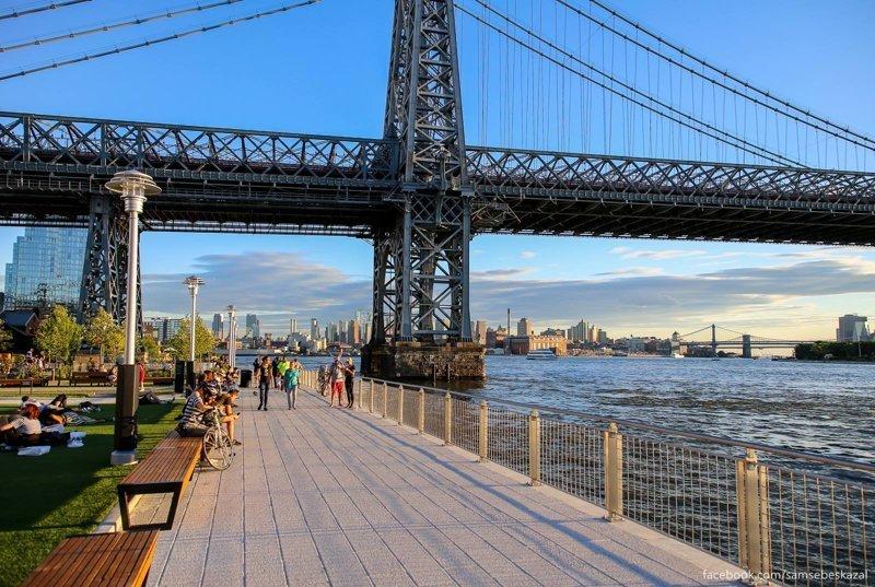 Нью-Йорк. Прогулка по новому парку «Домино» (15 фото)
