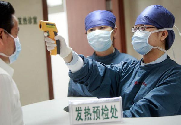 В охваченном эпидемией Китае…