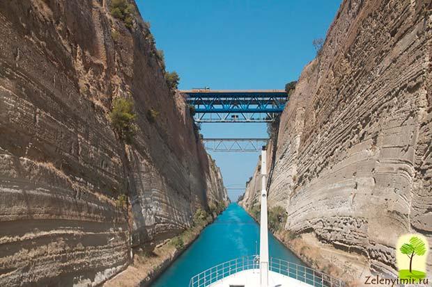 Коринфский канал в Греции – самый узкий судоходный канал в мире - 10
