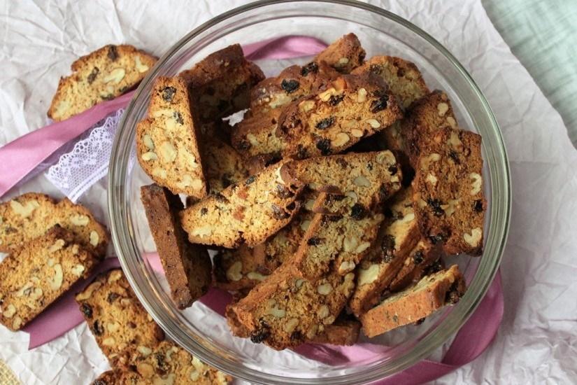 Бискотти с грецкими орехами