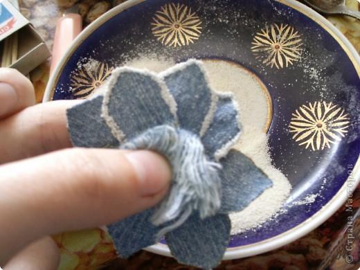 Мастер-класс Вырезание: Цветок из джинса №2+МК Ткань. Фото 17