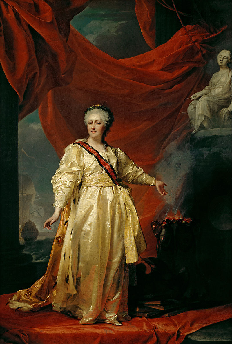 Екатерина II, Левицкий, 1783 год. <br />&#187; width=&#187;500&#8243; height=&#187;742&#8243;></p> <div>Екатерина II, Левицкий, 1783 год.: wikimedia.org</div> </div> <p><strong>Тайное венчание</strong></p> <p>Девочка Лиза появилась насвет виюле 1775 года вМоскве, вПречистенском дворце. Втедни императрица сказалась больной, якобы отравившись немытыми фруктами. Послухам, ктому времени ЕкатеринаII иГригорий Потемкин тайно обвенчались. Доказательства этого можно найти, например, вмногочисленных письмах современников, атакже вписьмах самой императрицы ксвоему фавориту: Екатерина называла Потемкина «милым другом инежным мужем». Вероятнее всего, если свадьба ибыла, тоона состоялась вянваре 1775 года, незадолго доотъезда изПетербурга вМоскву. Натот момент императрица уже могла быть беременна. Против этой теории говорит, например, тот факт, что кодню рождения девочки ЕкатеринеII было уже далеко за40— возраст, вкотором рождение детей дается вовсе нетак просто. Ктомуже императрица непризнала дочь несмотря нато, что другие еевнебрачные дети часто появлялись при дворе. Осудьбе девочки императрица заботилась лишь изуважения кПотемкину иего памяти.</p> <div><img title=