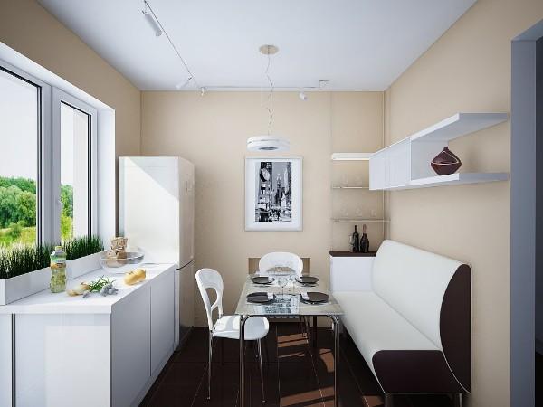 Маленький диван на кухню со спальным местом — 57 удачных решений