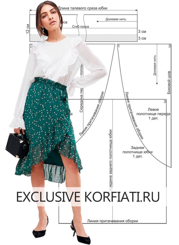 Шьем романтичную шифоновую юбку без выкройки