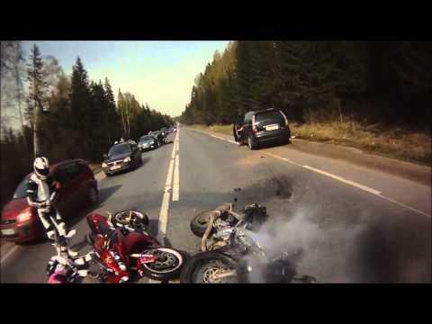 Закрытие сезона на открытии, Мото авария/ Closing of the season at the opening, Motorcycle accident