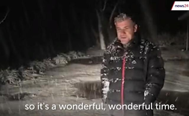Снег выпал в Африке. Видео