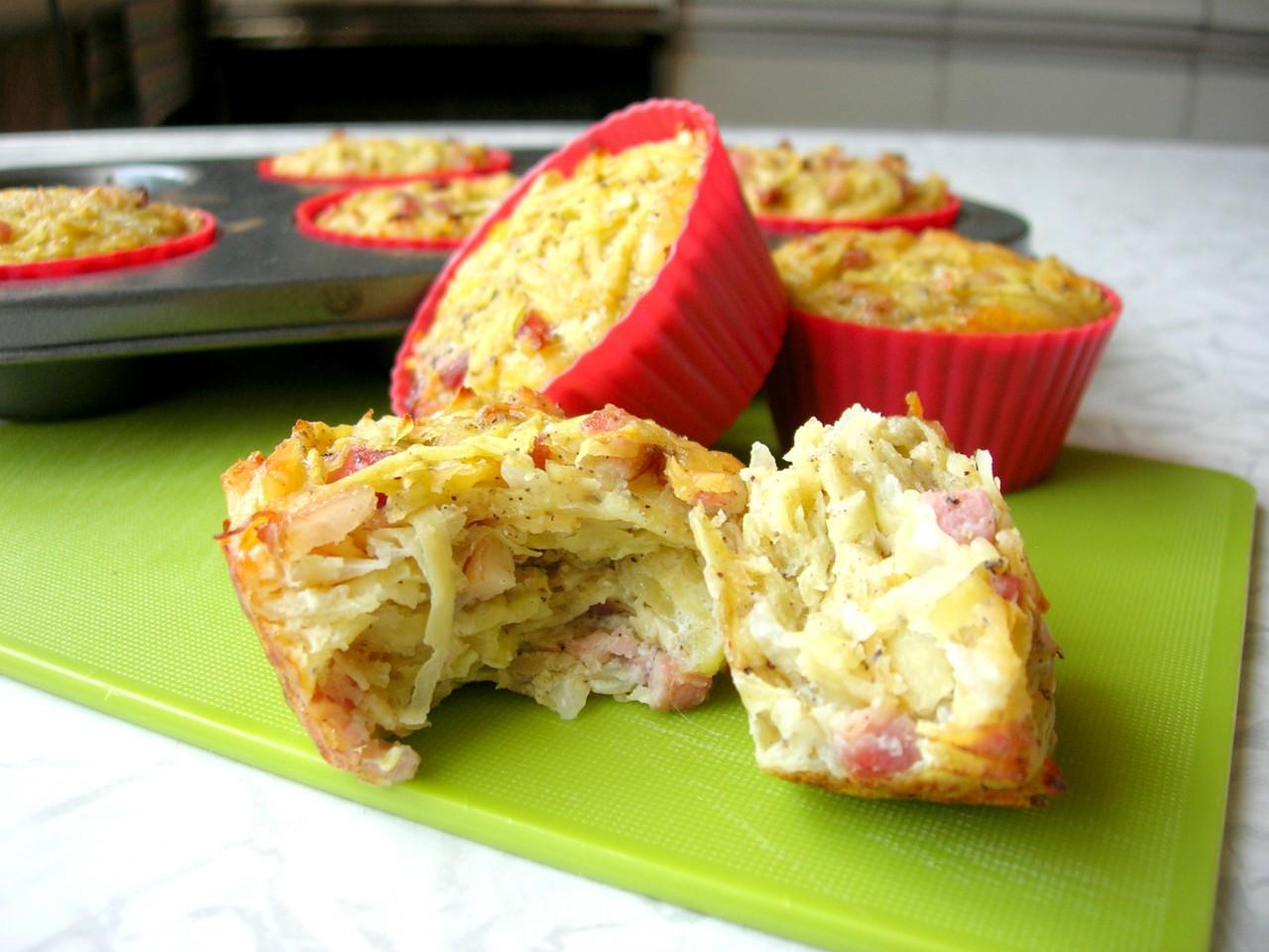 Вкусная идея для пикника и не только! Несладкие маффины из картофеля без муки