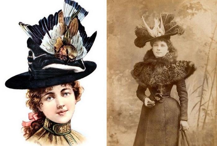 Засушенные букашки украшали платья и прически дам Викторианской эпохи