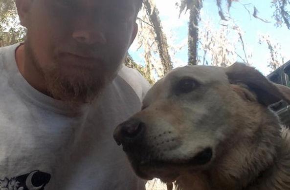 Героическая собака спасла тонущего мужчину