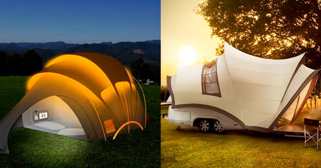 10 необычных палаток для нез…