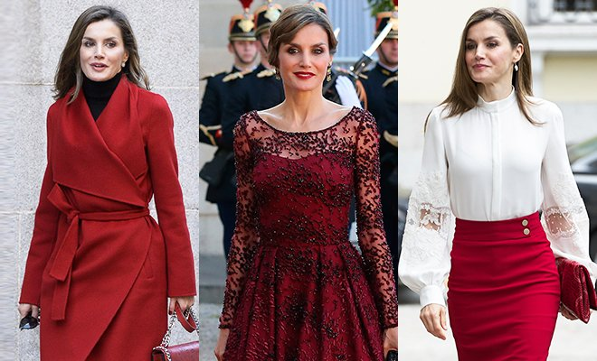 С днем рождения, королева Летиция: 46 выходов первой леди Испании в нарядах красного цвета