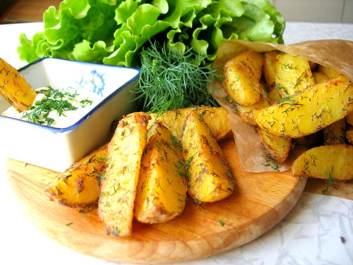 Картофель Айдахо – домашний fast food без вреда для здоровья! Рецепт, Еда, Кулинария, Видео, Картофель, Фастфуд